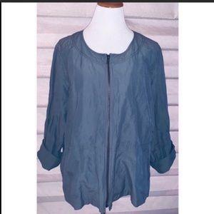 Eileen Fisher Size 3X Zipper Front Jacket